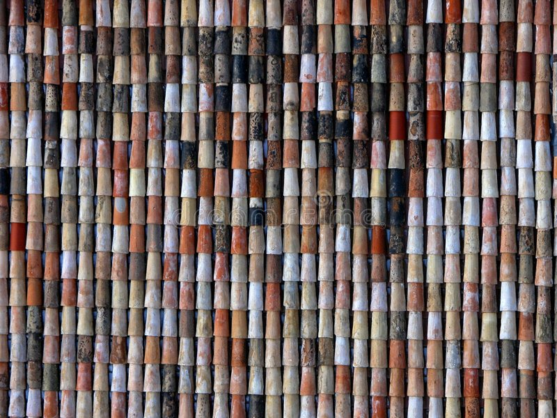 Download Red And Brown Shingles On Homes And Buildings In Europe Stock Photo - Image: 501006