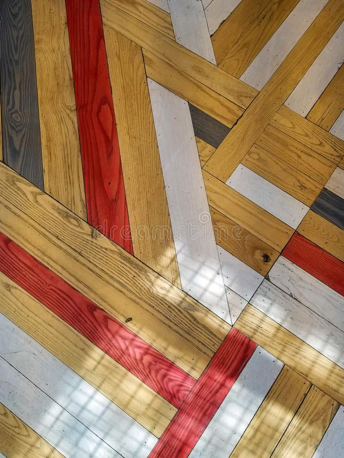 Abstract wood floor design with shadow royalty free stock photos