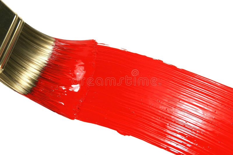 Download Red Brush Stroke stock photo. Image of home, brush, painted - 5401780
