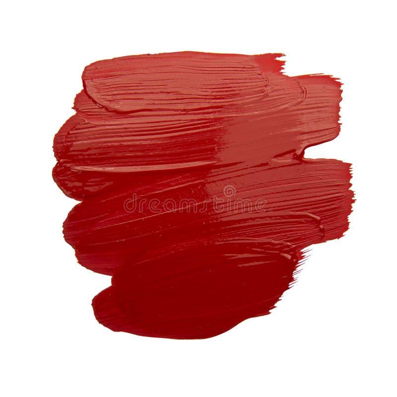 Red brush stroke. Isolated on grunge background royalty free stock photos