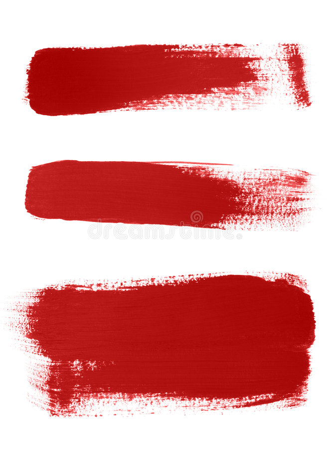 Free Red Brush Strokes On White Background Royalty Free Stock Image - 7087976