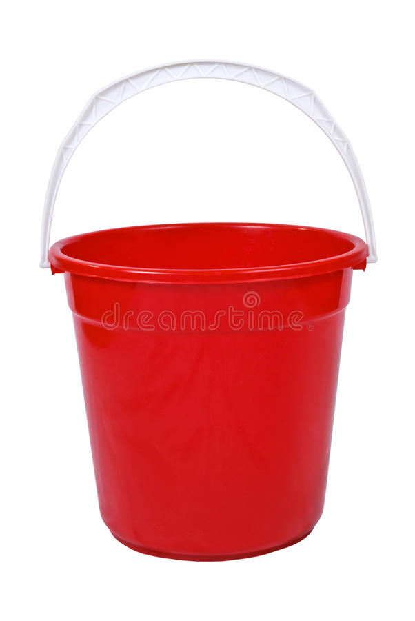 Red bucket stock images