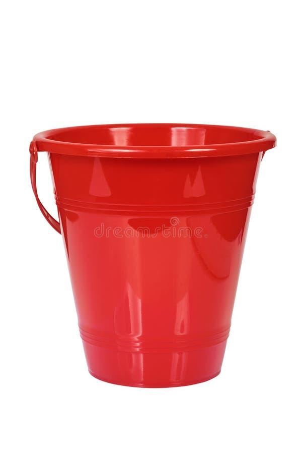 Download Red bucket. stock image. Image of white, bucket, nobody - 24482271