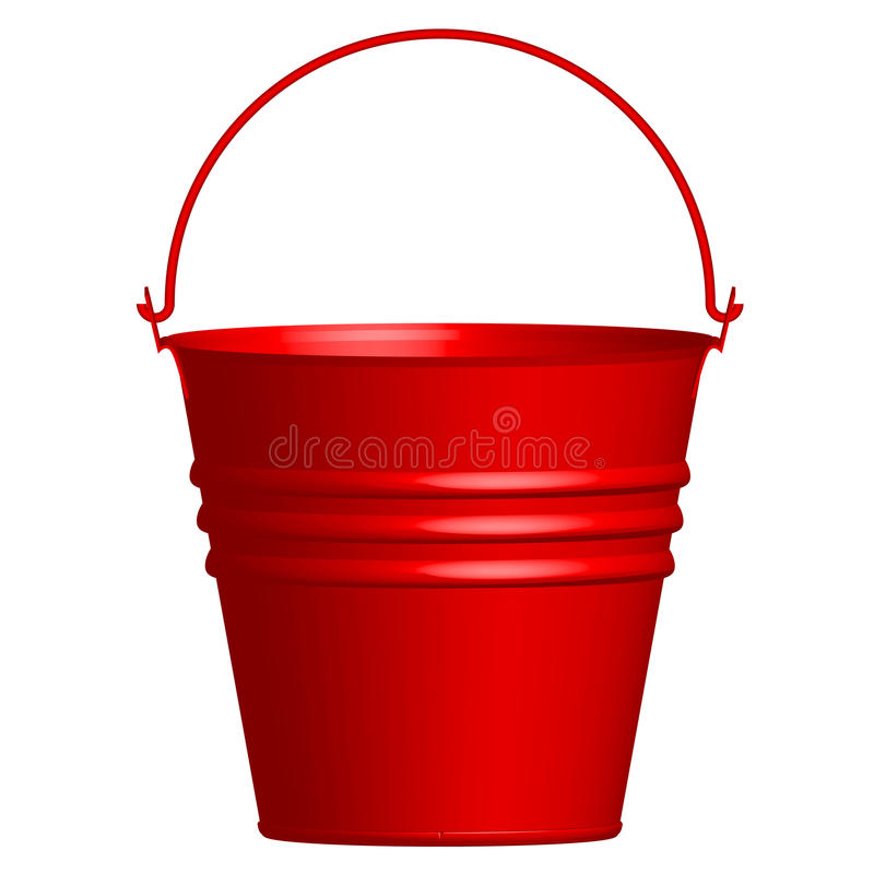 Red bucket stock illustration