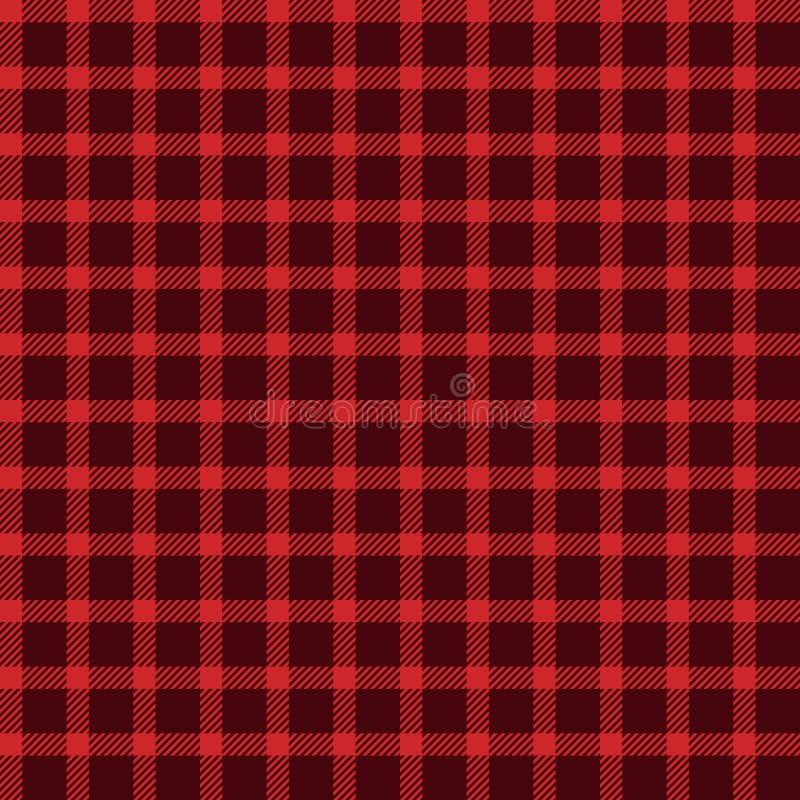 Red Buffalo Plaid Seamless Pattern vector illustration