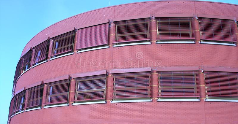 Download Red building stock photo. Image of windows, european, blue - 43226