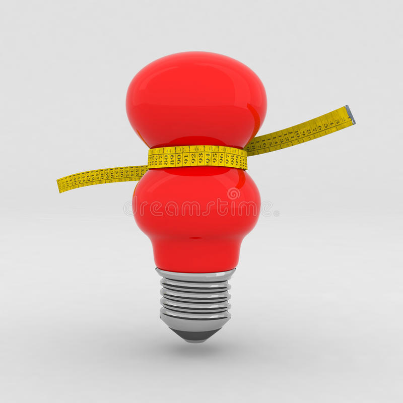 Free Red Bulb On A Diet Royalty Free Stock Images - 17120649