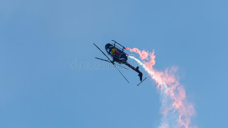 Red bull Air Force royalty free stock photo