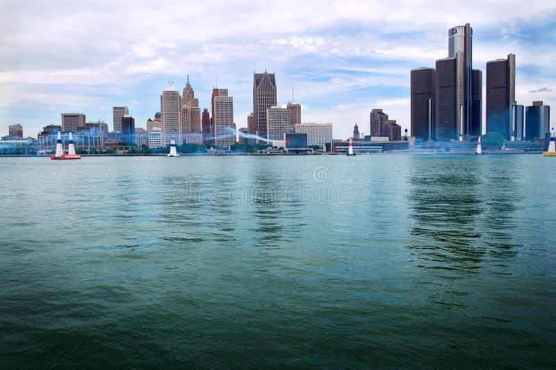 Red Bull Air Race Detroit Skyline stock photo