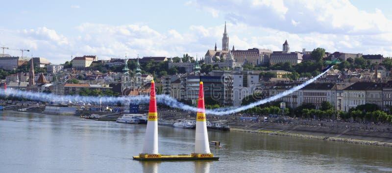 Red Bull Airrace i Budapest royaltyfria foton