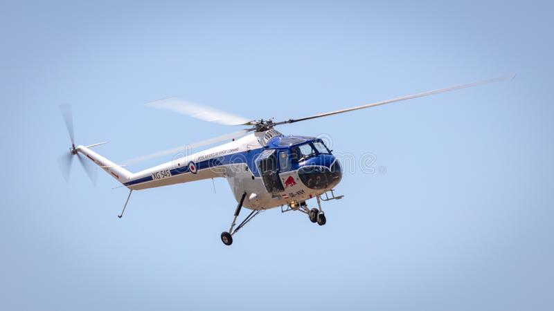 Red Bull BRISTOL 171 SYCAMORE vintage helicopter stock photo