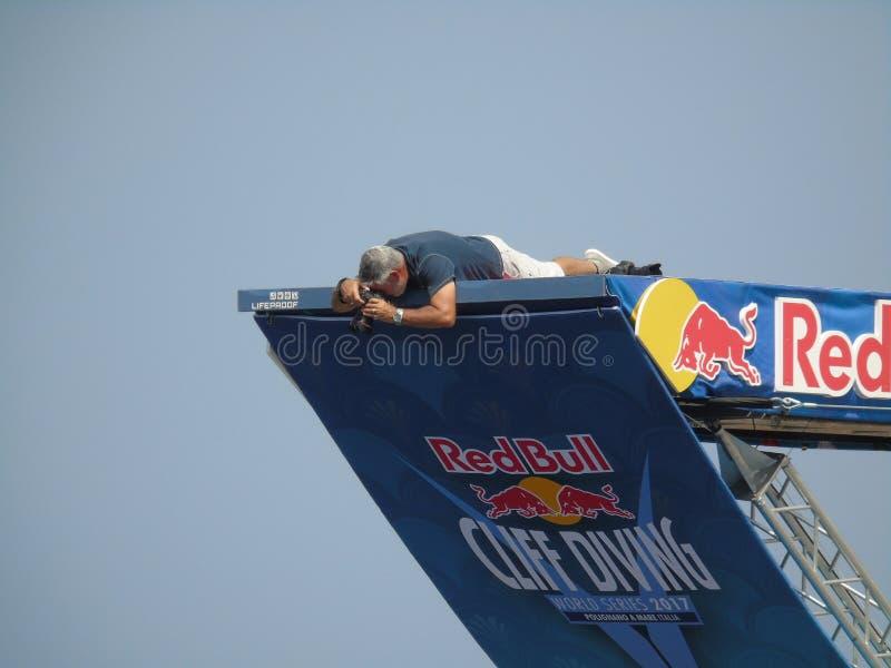 Red Bull Cliff Diving Polignano una yegua 2017 fotografía de archivo libre de regalías