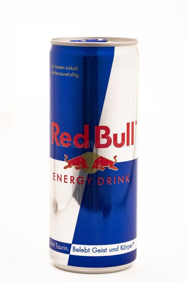 Red Bull energidrink royaltyfri bild