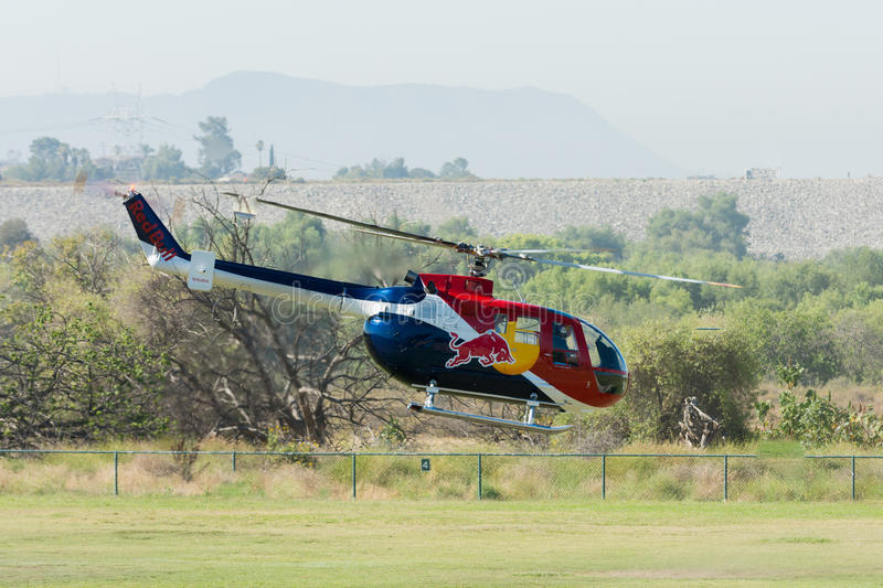 Red Bull helicopter stock photos