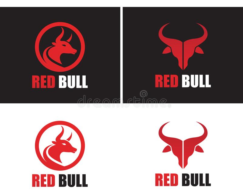 red bull horn logo and symbols template icons stock vector