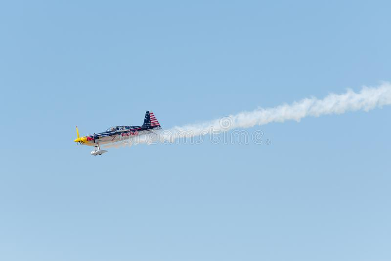 Red Bull Kirby Chambliss – Edge 540 royalty free stock photos
