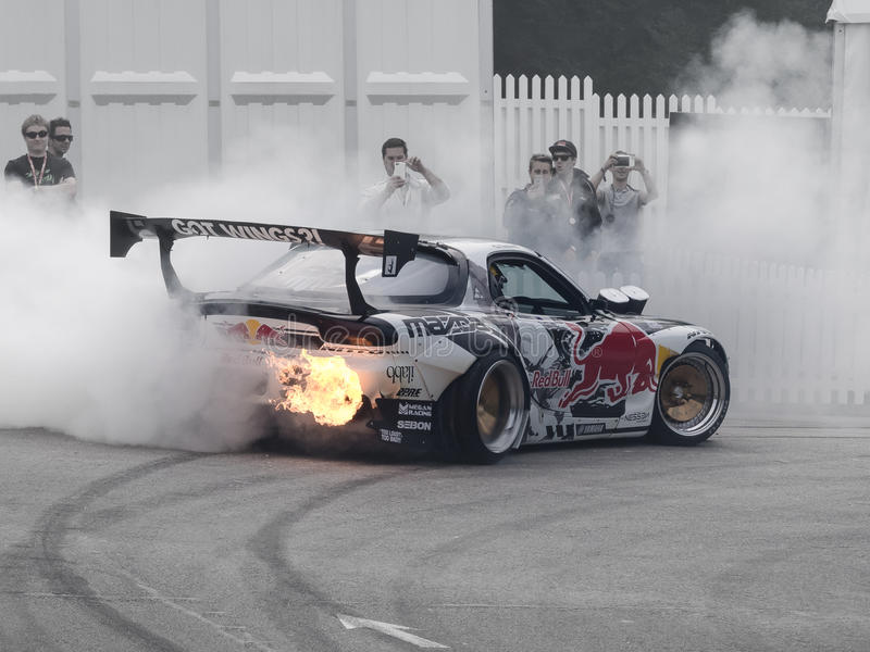 Red Bull Mazda FD RX7 images stock