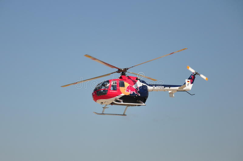 Red Bull MBB Bo-105 royalty free stock images