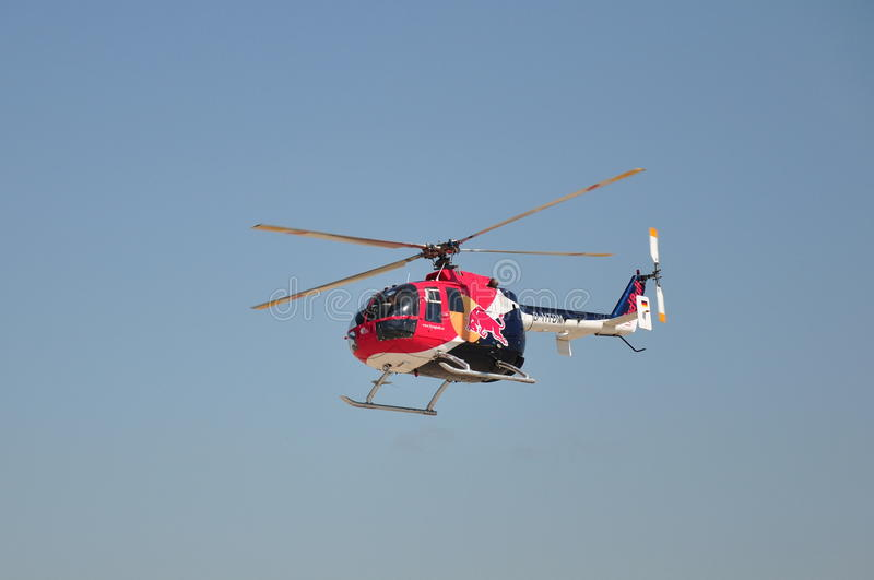 Red Bull MBB Bo-105 stock photography