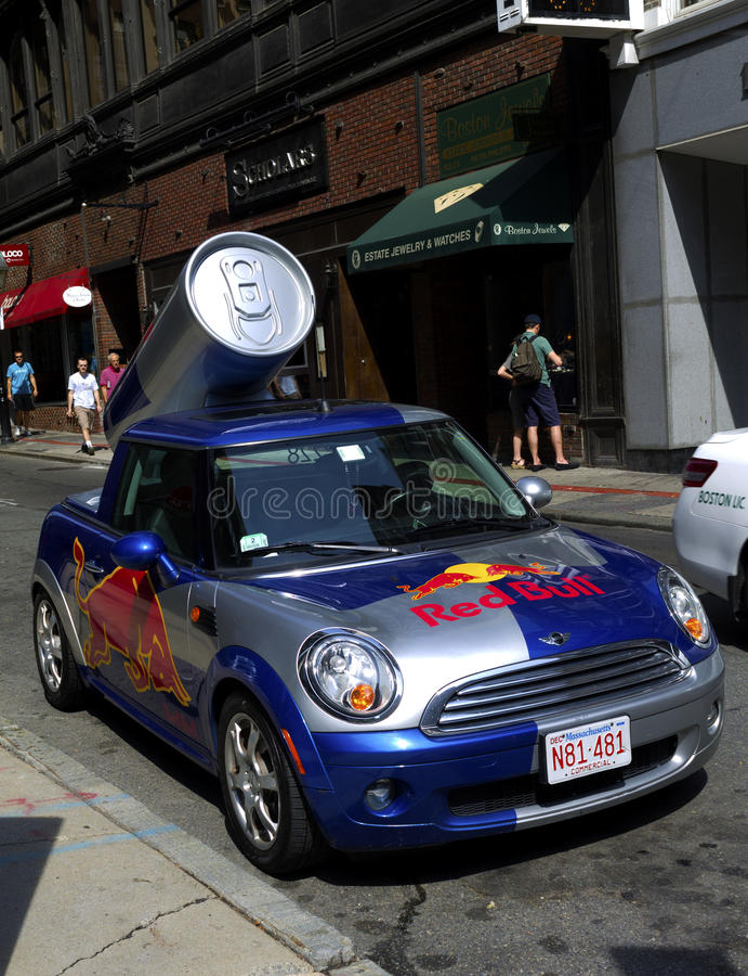 Red Bull mini imagem de stock royalty free