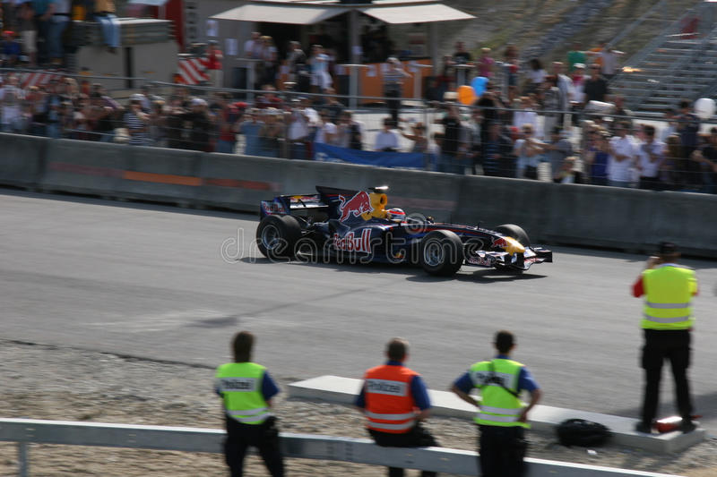 Red Bull Racing Race Car royalty free stock photography