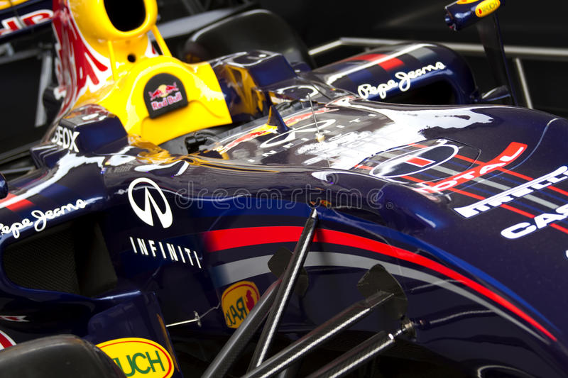 Red Bull RB7 F1 racing car royalty free stock photo