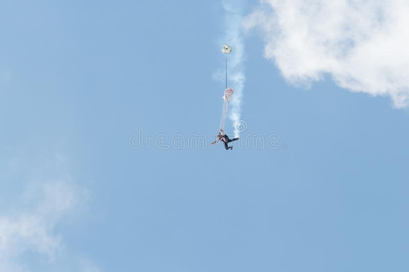 Red Bull Swoopers – Jump Team royalty free stock images
