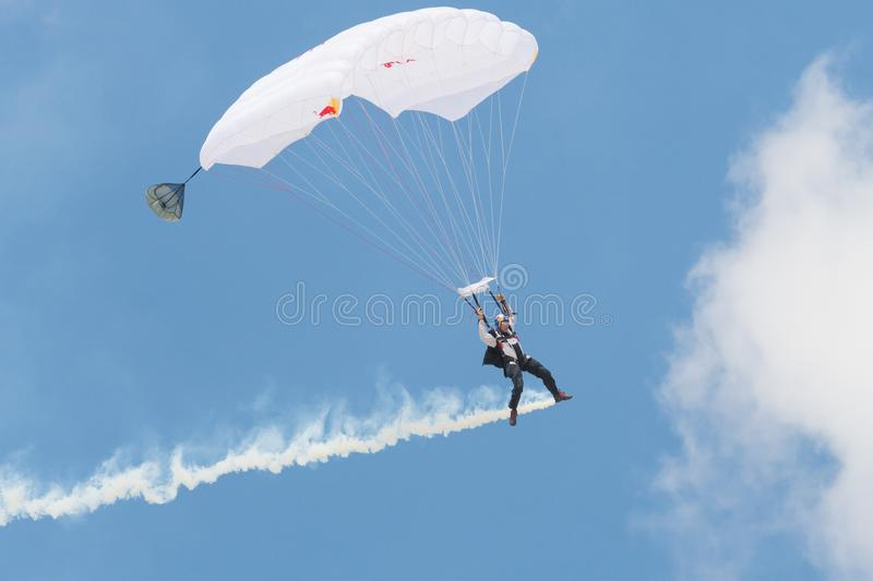 Red Bull Swoopers – Jump Team royalty free stock photography