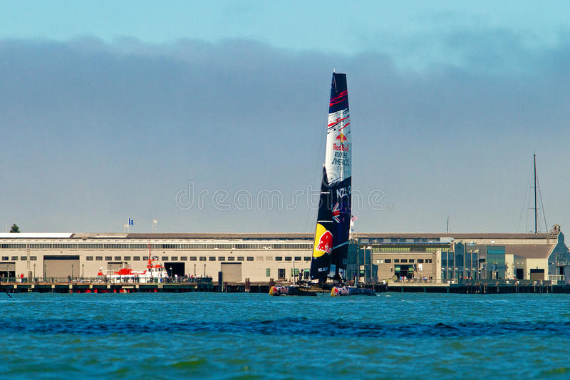Red Bull Youth America's Cup Practice royalty free stock images