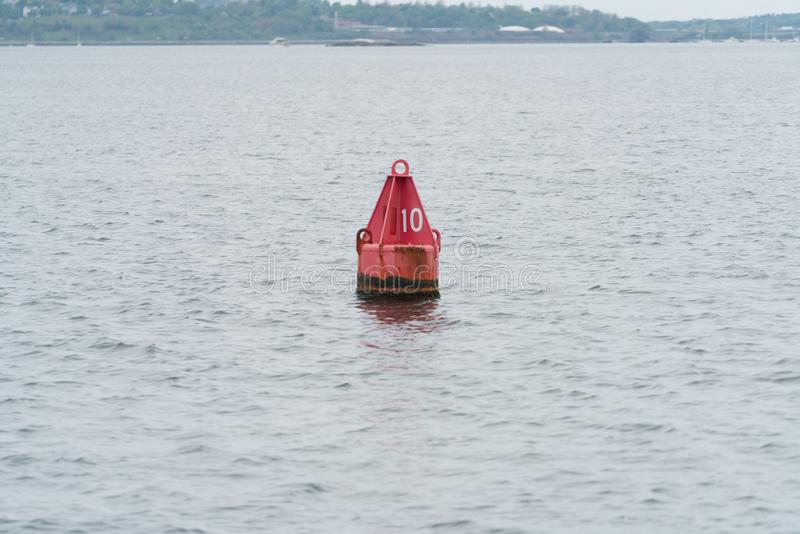Buoy marker red stock image
