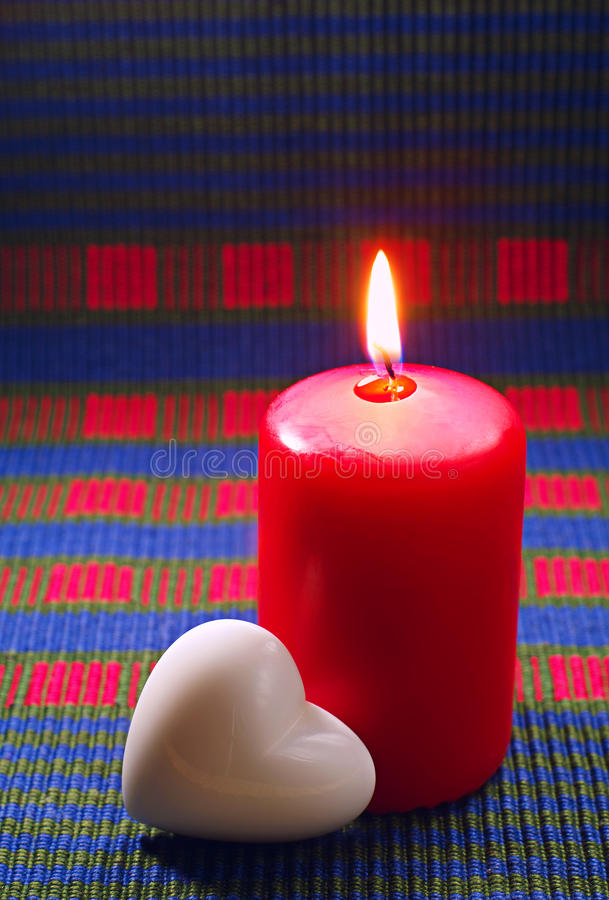 Download Red burning candle stock photo. Image of romantic, background - 28636298
