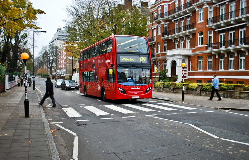 Download Red bus on Abbey Road editorial photo. Image of nobody - 29036326