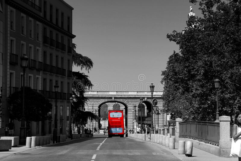 Red bus royalty free stock photography