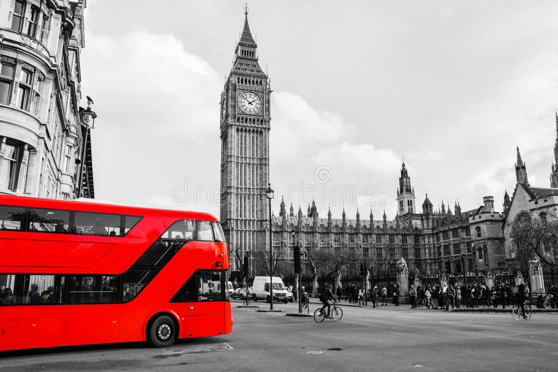 Red Bus in parliament square. A picture of a Red bus by Westminster taken November 2014 royalty free stock photography
