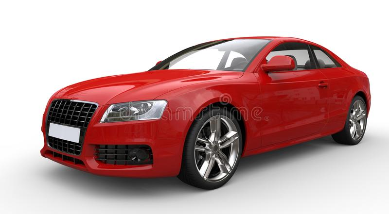 Red Business Car royalty free stock image