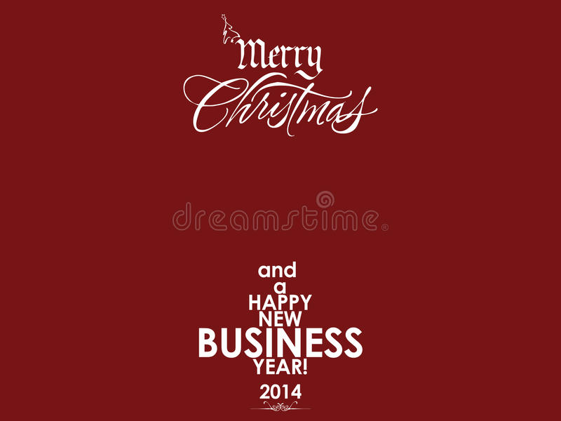 Red Business Card Background For New Year Stock Illustration ...