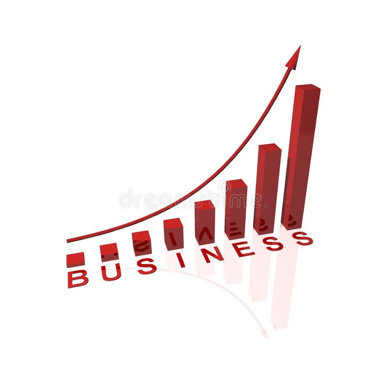 Red business success graph stock illustration