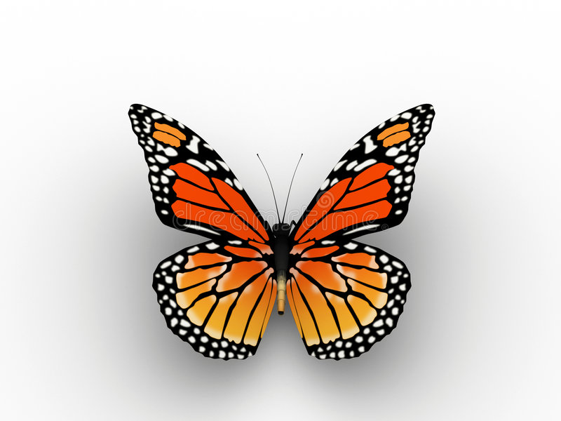 Download Red butterfly stock illustration. Image of wings, delicately - 5406945