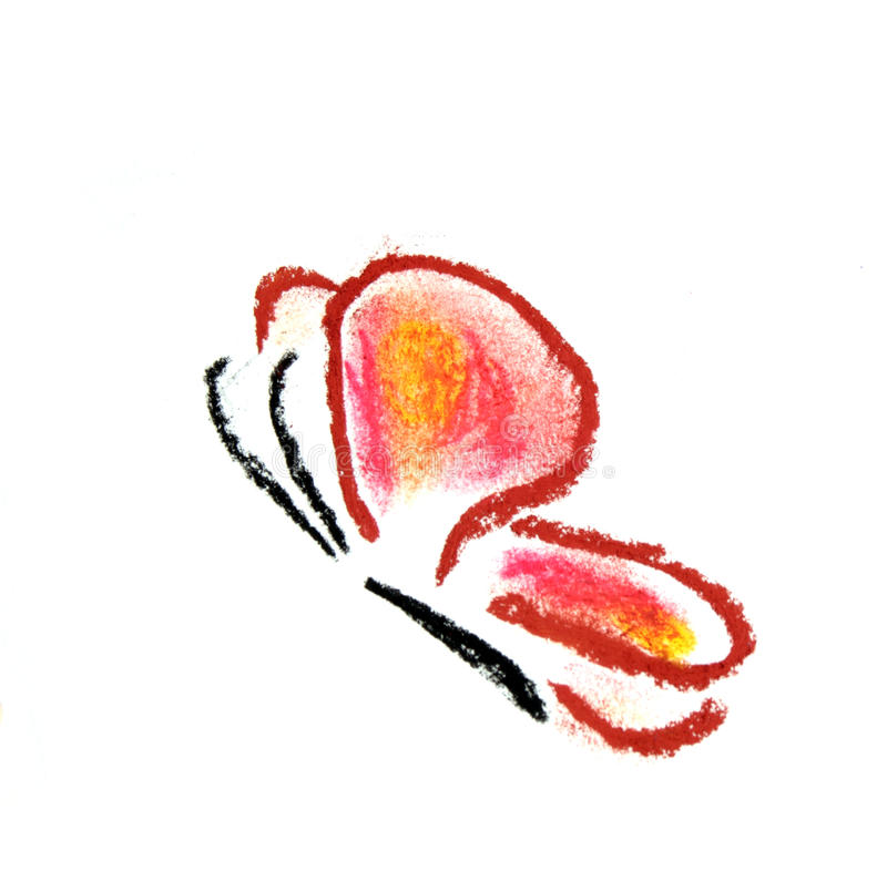 Red butterfly simple illustration