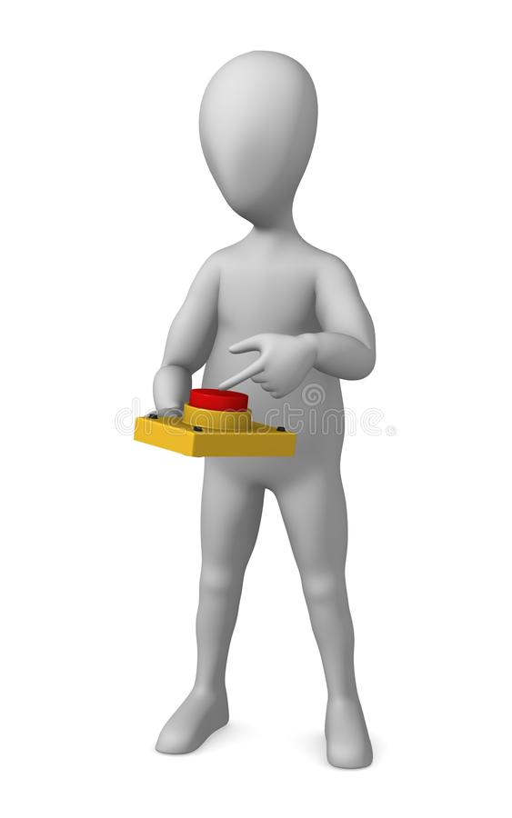 Download Red button stock illustration. Image of stockie, alert - 14724324