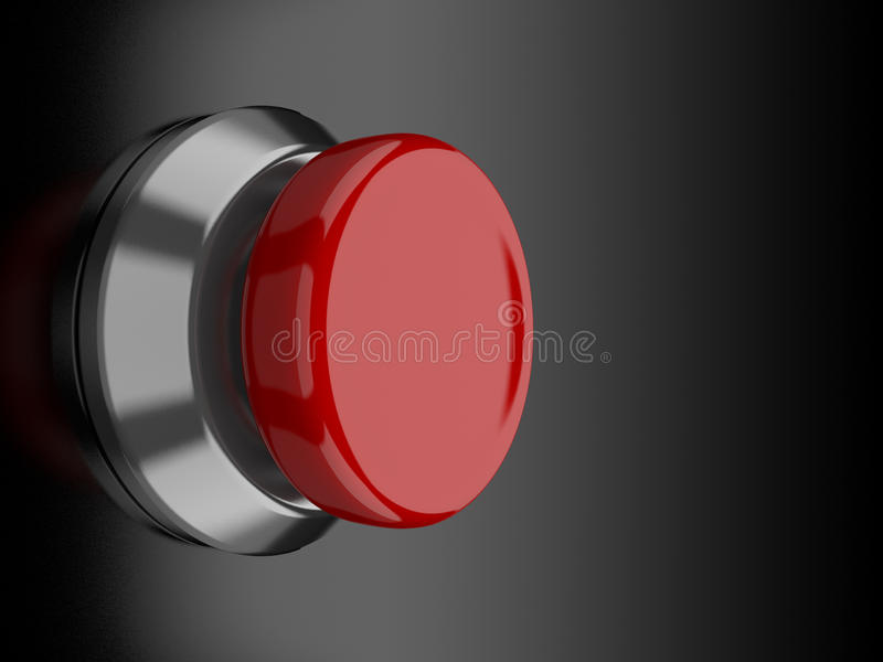 Red Button royalty free illustration
