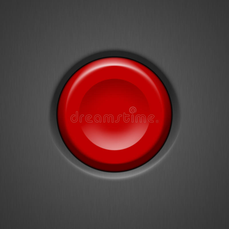 Download Red Button stock illustration. Image of beware, object - 22110275