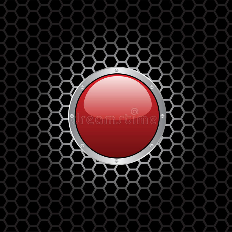 Download Red Button stock vector. Image of laptop, push, part - 25235773