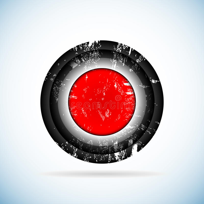 Download Red button. stock vector. Image of security, alarm, background - 25792093