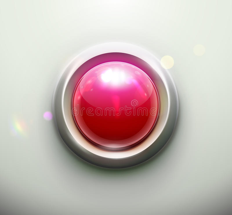 Download Red button stock vector. Image of object, button, assistance - 26415891