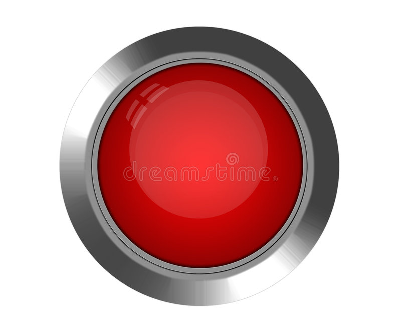 Download Red Button stock photo. Image of shiny, silver, circle - 8616258