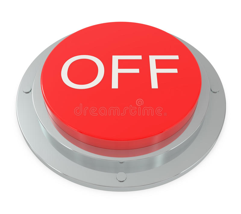 Free Red Button Isolated On White Royalty Free Stock Images - 14842439