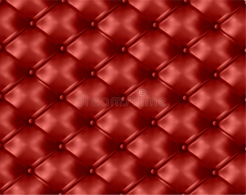 Red Button Tufted Leather Background Vector Stock Vector