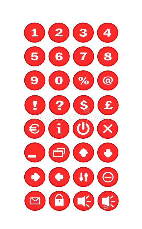 Download Red Buttons stock illustration. Illustration of buttons - 5124206