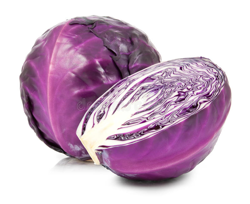 Red cabbage isolated royalty free stock photos